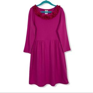 Crewcuts Girl's Dress 12 Pink Long Sleeve